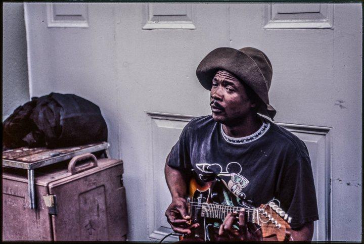 Guitar man in NewOrleans