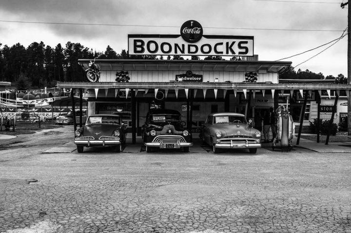 Boondocks Cafe' & Gas Station inDeadwood.